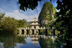 Paviljong i Jingxi, Guangxi, Kina Arkivbild