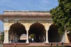 Paviljong på det Agra fortet Arkivbild