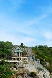 Paviljong på kullen Arkivbild