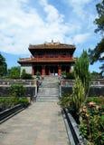 Paviljong på Minh Mang den kungliga tomben i ton, Vi Arkivbild