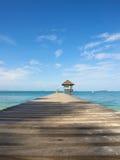 Paviljong på stranden Royaltyfria Bilder