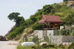 Paviljong på stranden Royaltyfri Fotografi