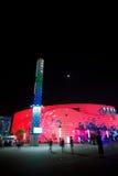 paviljong shanghai för expo info för 2010 kommunikationer Fotografering för Bildbyråer