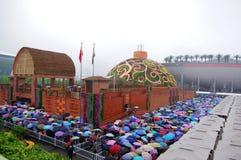 paviljong shanghai för porslin expo2010 india royaltyfri foto