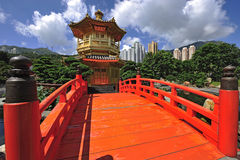 Paviljongen av absolut perfektion i Nan Lian Garden Arkivfoton