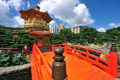 Paviljongen av absolut perfektion i Nan Lian Garden Royaltyfria Bilder
