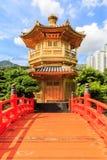 Paviljongen av absolut perfektion i Nan Lian Garden Arkivfoto