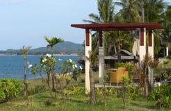 Paviljongen med havet beskådar Arkivfoto