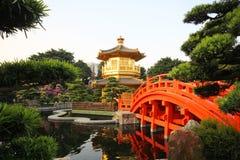 Paviljongen Nan Lian Garden Hong Kong arkivfoto