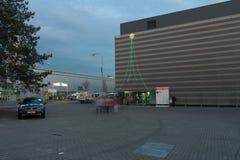 Paviljongen på jul marknadsför i Brno utställningmitt Royaltyfri Fotografi
