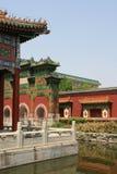 Paviljonger - Beihai parkera - Peking - Kina Arkivfoto
