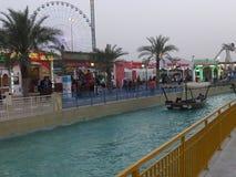 Paviljonger på den globala byn i Dubai, UAE Royaltyfria Foton