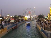 Paviljonger på den globala byn i Dubai, UAE Arkivbild