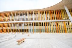 Paviljongfasade av expon 2008 i Zaragoza Royaltyfri Bild