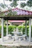 Paviljongträdgårdar Arkivfoto