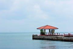 pavillion海边 库存照片