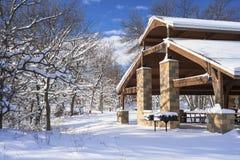Pavillion в зиме стоковое фото rf