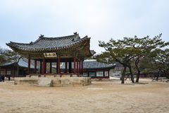 Pavillion в районе дворца Changgyeong Стоковые Изображения RF