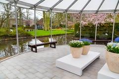Pavillion голландского сада Keukenhof весны, Lisse, Нидерландов Стоковое фото RF