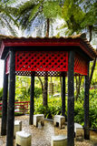 Pavillion in a Beautiful Garden at Monte above Funchal Madeira. This wonderful garden is at the top of the cablecar from the seafront in Funchal. It is filled Royalty Free Stock Images