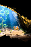 Pavillion in the cave,Thailand Royalty Free Stock Photography