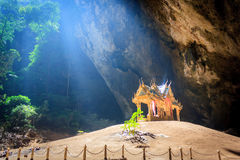 Pavillion in the cave,Thailand Stock Image