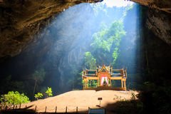 Pavillion in the cave,Thailand Royalty Free Stock Images