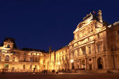 Pavillion Colbert and Pavillion Sully in Louvre Royalty Free Stock Photo