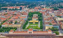 Pavillion d'art à Zagreb. Croatie Photos stock