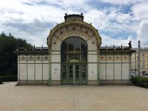 Pavillion d'Otto Wagner Image stock
