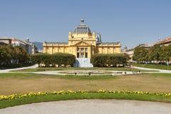 Pavillion da arte em Zagreb. Croatia imagem de stock royalty free