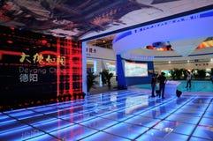 Pavillion der Deyang Stadt auf WCIF 2012 Lizenzfreie Stockfotografie