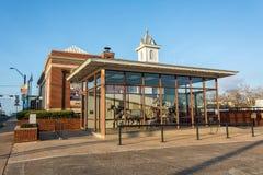 Pavillion devant le musée du feu de Brenham dans le Texas photo stock