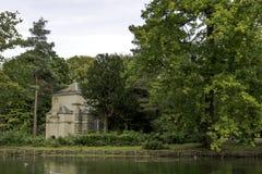 Pavillion di Belisle nel centro giardino dell'isola, paesaggio di Claremont Fotografie Stock