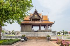 Pavillion di Santi Chai Prakan nel parco di Santi Chai Prakan a Bangkok, Tailandia fotografie stock