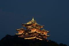 Pavillion famoso de Hangzhou del pabellón de dios de la ciudad Imágenes de archivo libres de regalías