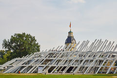 Pavillion in het kasteelpark Karlsruhe Stock Fotografie