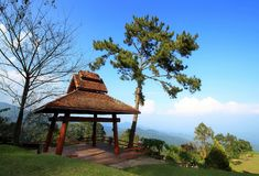 Pavillion on the hill. royalty free stock photography