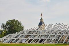 Pavillion im Schlosspark Karlsruhe Stockfotografie