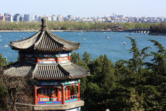 Pavillion im Sommer-Palast, Peking Stockfotos