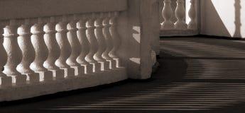 Pavillion kolonnader Arkivbilder