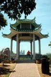Pavillion Lian Hua Shan im Park Stockbilder