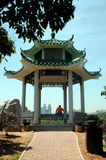 Pavillion in Lian Hua Shan Park Stock Images