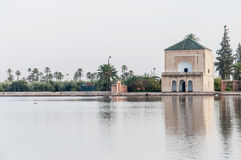 Pavillion on Menara Gardens at Marrakech, Morocco Stock Photos