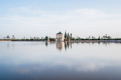 Pavillion on Menara Gardens at Marrakech, Morocco Royalty Free Stock Photo