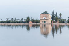 Pavillion on Menara Gardens at Marrakech, Morocco Stock Photography