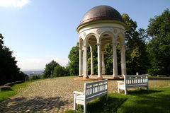 Pavillion (Monopteros) on top of Nero-hill Royalty Free Stock Photos