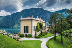 Pavillion. Pavillon in Villa Balbianello on Lake Como, Italy stock photos