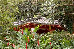 Pavillion pequeno, Byodo-no templo foto de stock royalty free