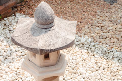 Pavillion rock lamp in garden Stock Photography